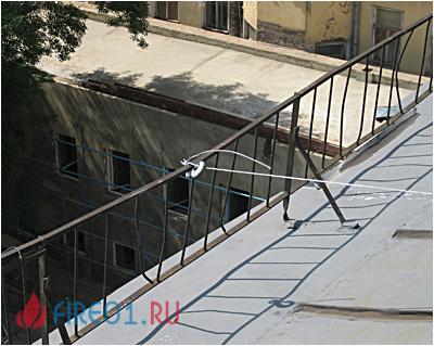 Наружные пожарные лестницы - требования и испытание.