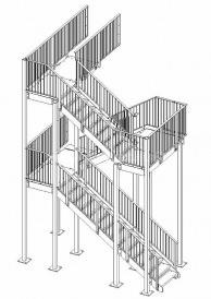 Строение маршевой пожарной лестницы